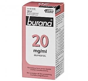 Burana 20 mg/ml. Сироп 200 мг.